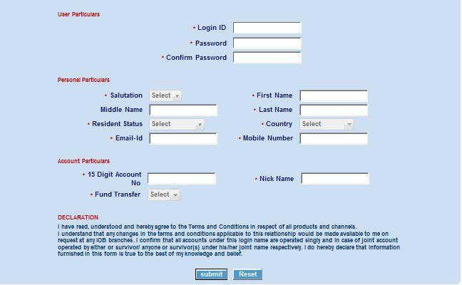 application for netbanking in corporation bank