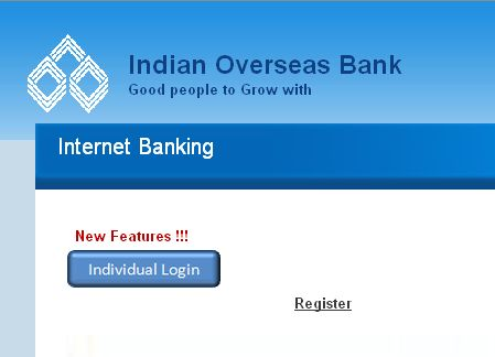 internet banking of indian overseas bank