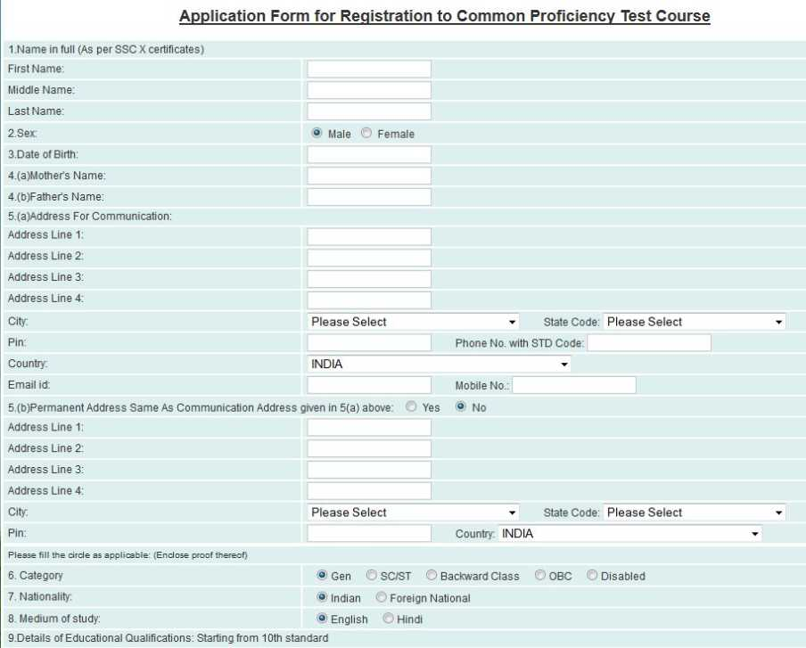Standard Registration Form Image Collections Free Form Design Examples