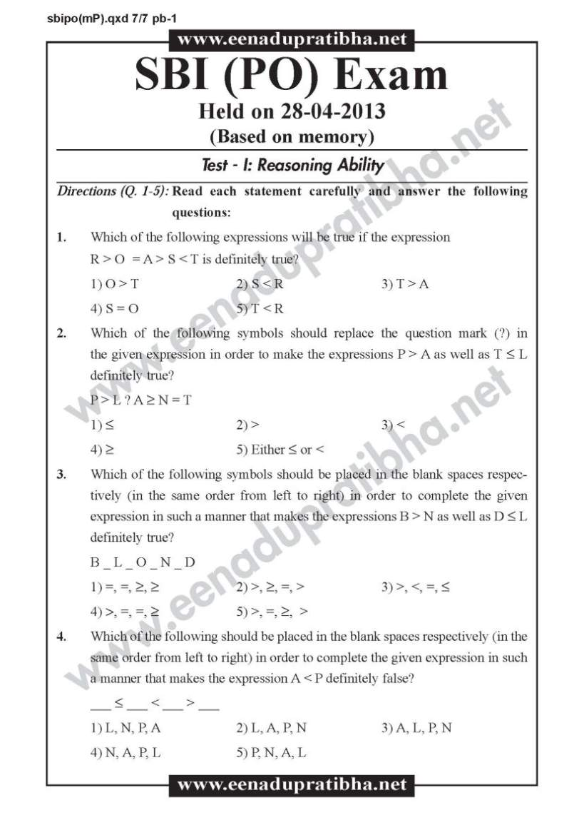 SBI PO EXAM SAMPLE PAPERS EBOOK DOWNLOAD