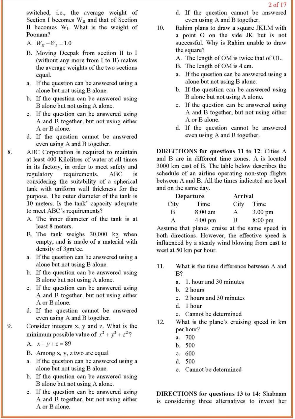 Solved CAT Question Paper 2010 CAT 2011 Preparation Made Easy
