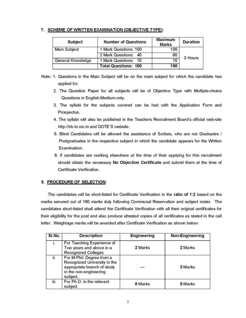 subjects from a recognized university under 10 2 3 pattern and a degree in teacher education b ed from a recognized university trb tet exam notice