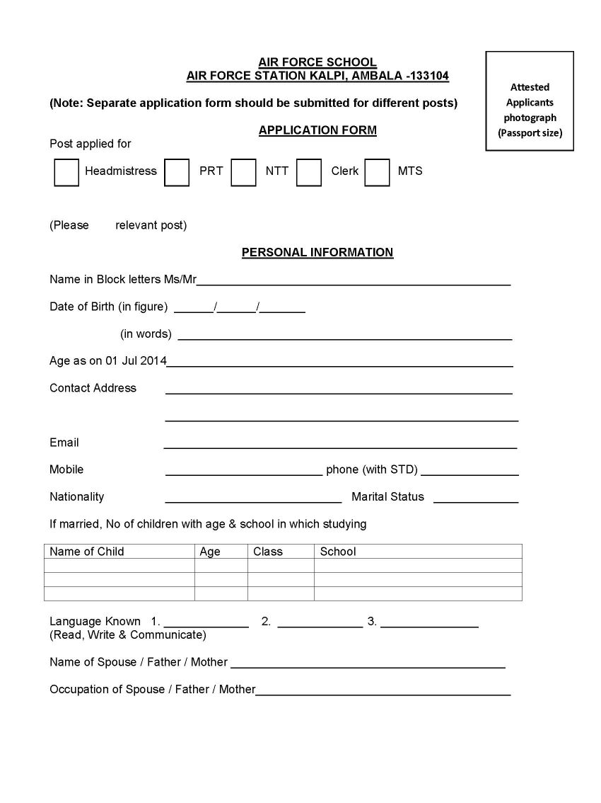job application form nursery job application letter application form