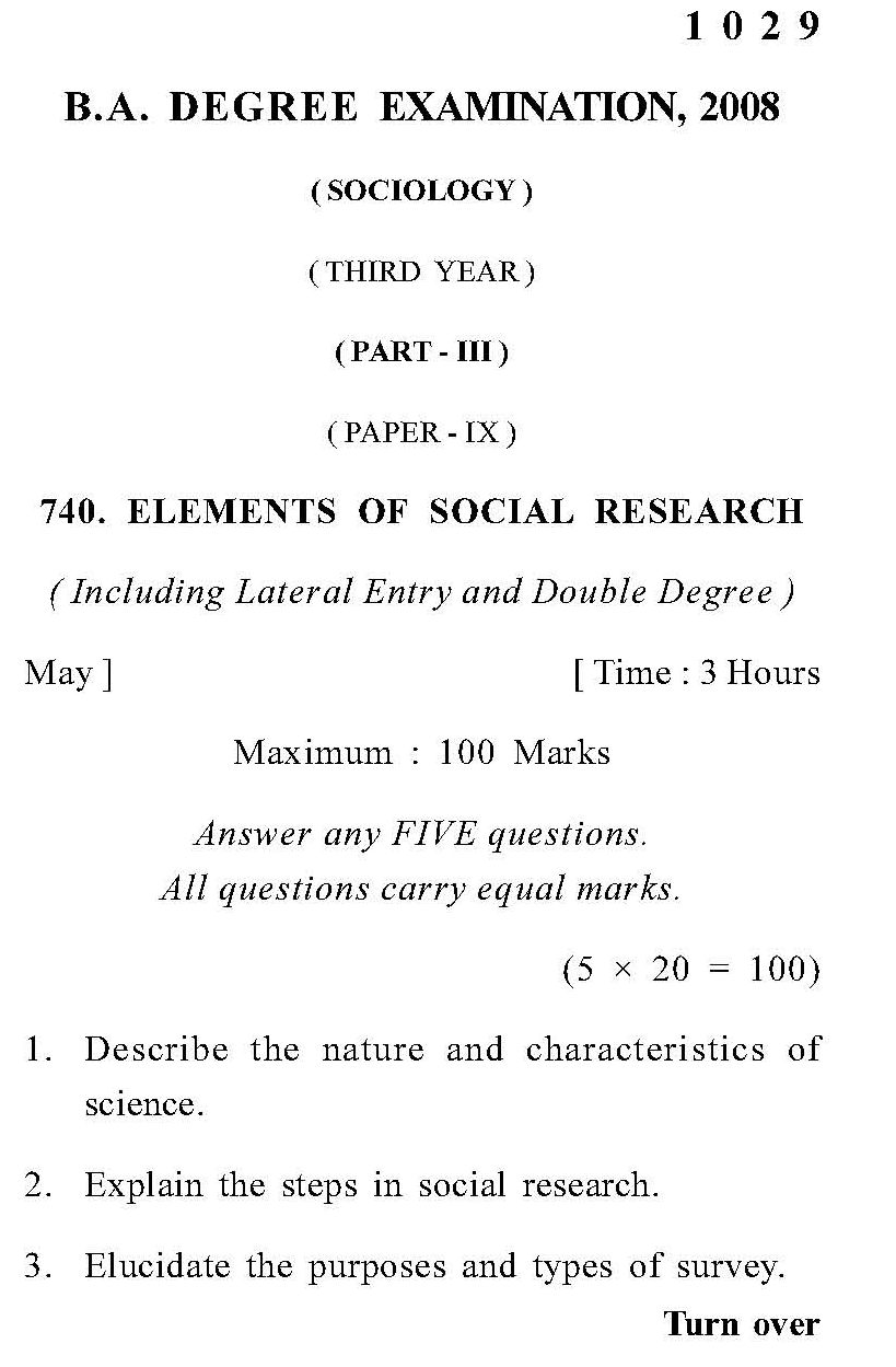 Format of sociology research papers