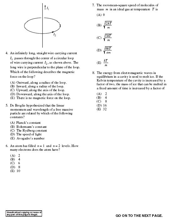groups physgre test problem