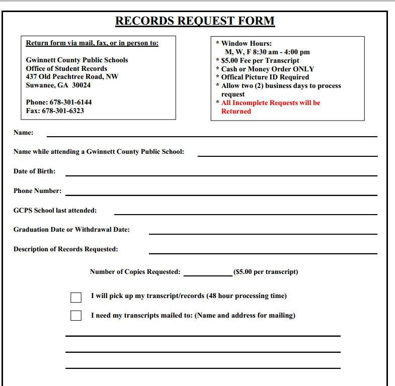 Gwinnett Public School Records    Student Forum