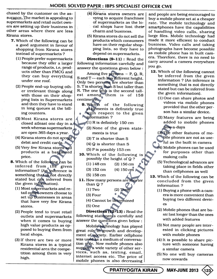 Ibps Specialist Officer Previous Year Papers Pdf