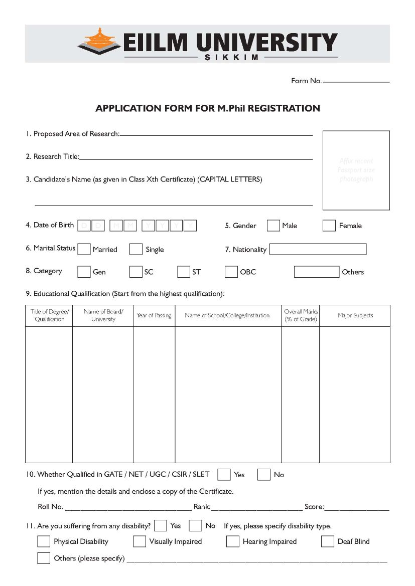 M Phil in Eiilm University Sikkim - 2018 2019 Student Forum Eiilm Degree Application Form on application trial, application clip art, application for rental, application to be my boyfriend, application error, application meaning in science, application template, application to join a club, application database diagram, application for scholarship sample, application for employment, application cartoon, application to join motorcycle club, application to date my son, application insights, application to rent california, application service provider, application in spanish, application submitted, application approved,
