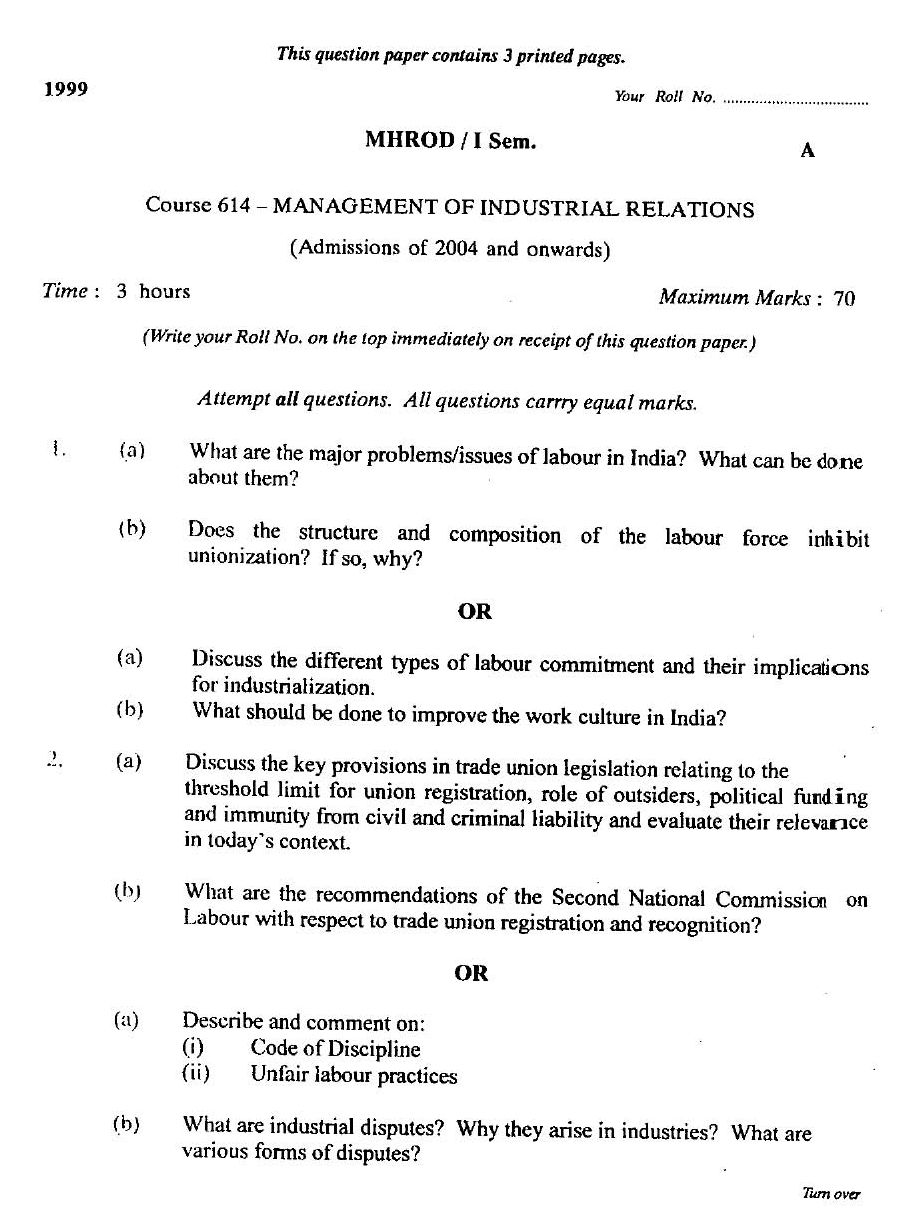 Mba model question paper anna university