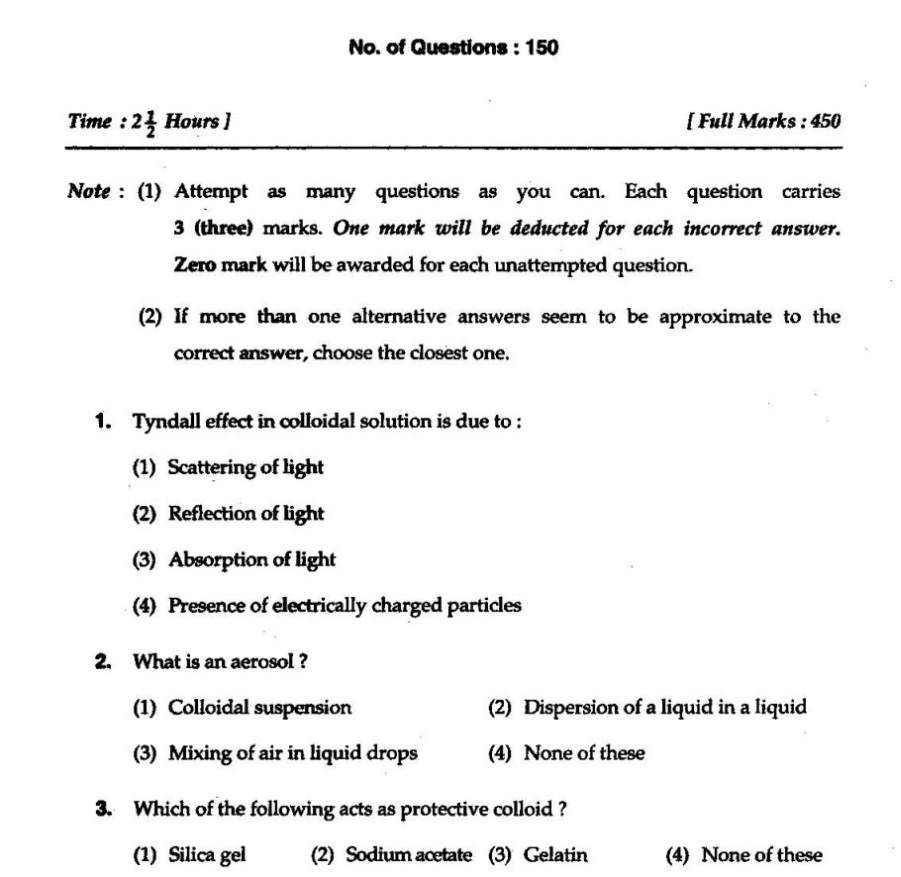 M Sc Entrance Exam of BHU Environmental Science Question