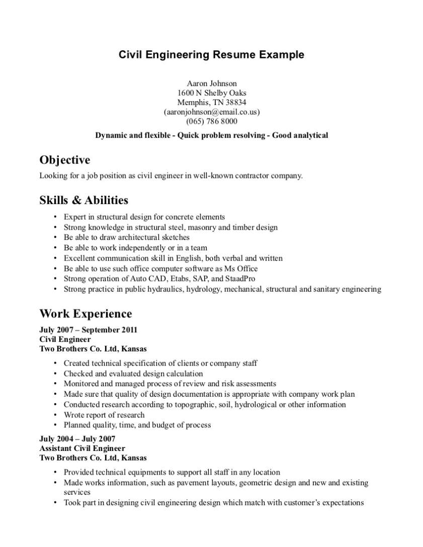 Resume Template Of A Computer Science Engineer Fresher With Great  Carpinteria Rural Friedrich