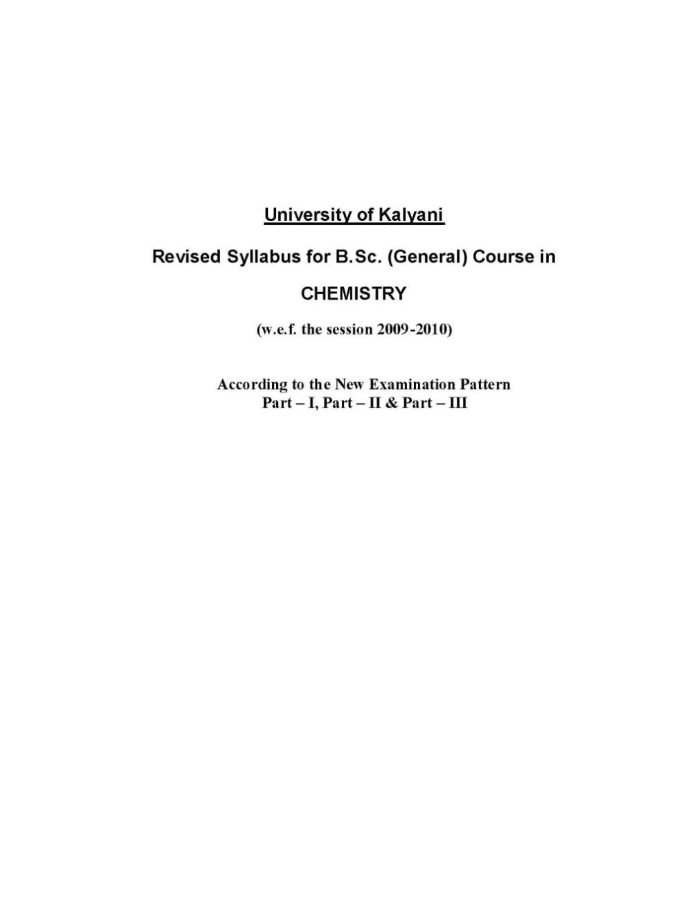 kalyani university chemistry pass syllabus student forum attached kalyani university b sc chemistry syllabus pdf 40 8 kb