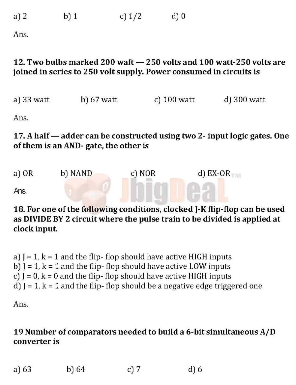 papers for upcl written test student forum uppcl electronics written test question paper