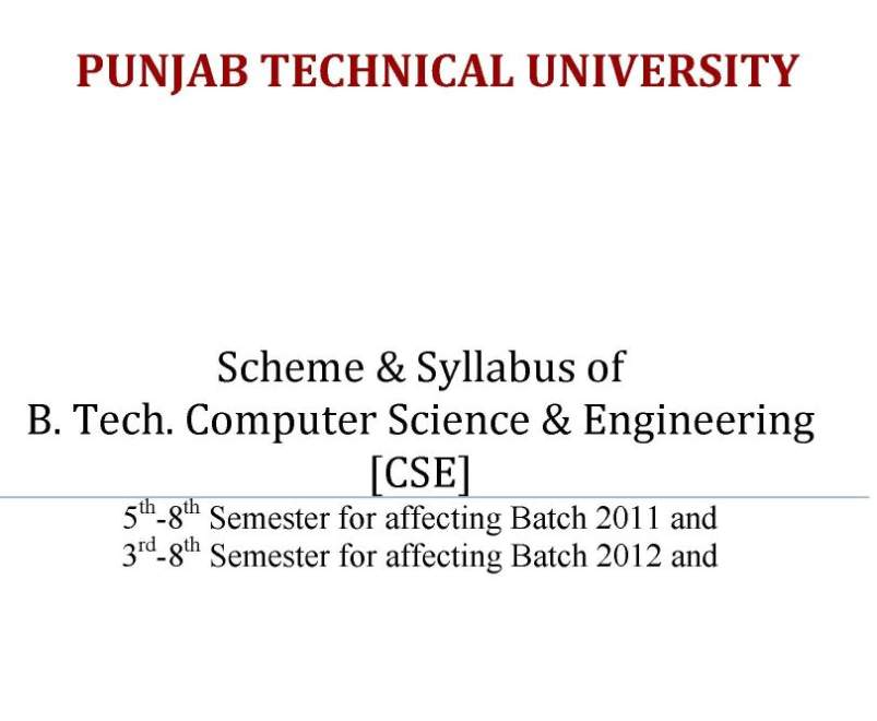 Computer Science subjects at university