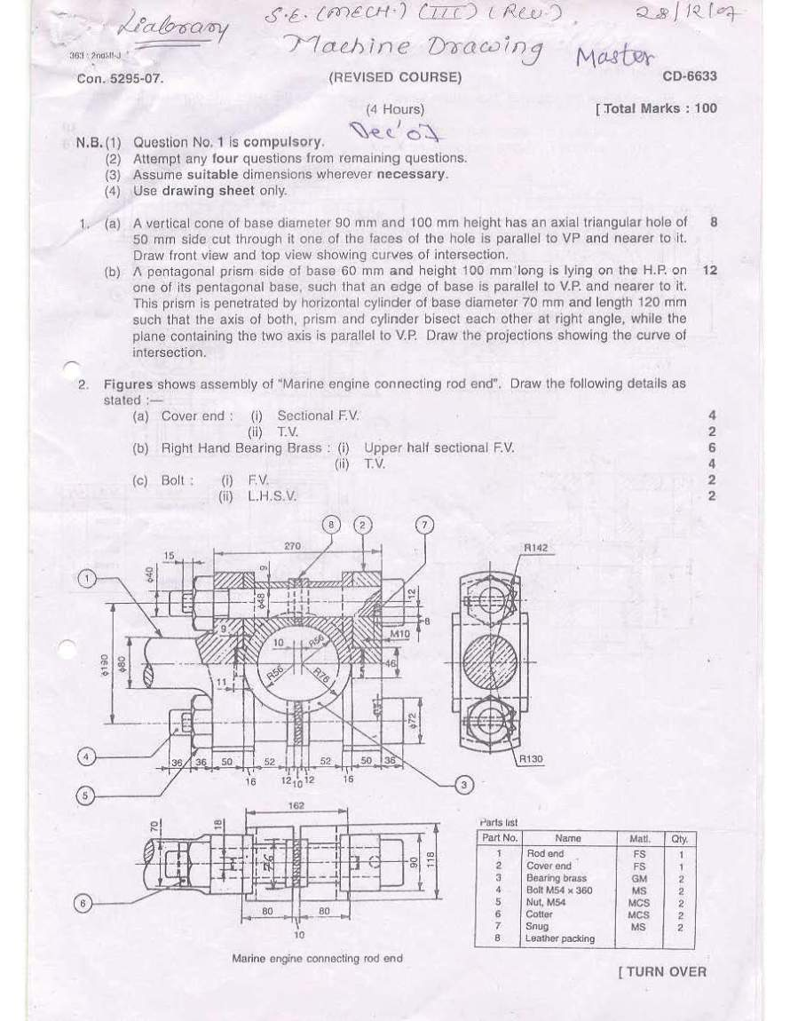 Mechanical Engineering what subjects are given in college