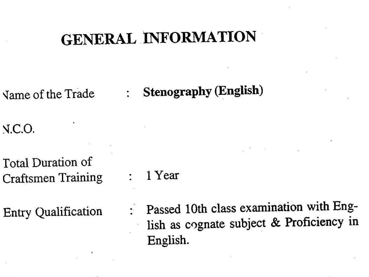 stenography course duration  Stenography course in Tinsukia ITI - 2018 2019 Student Forum
