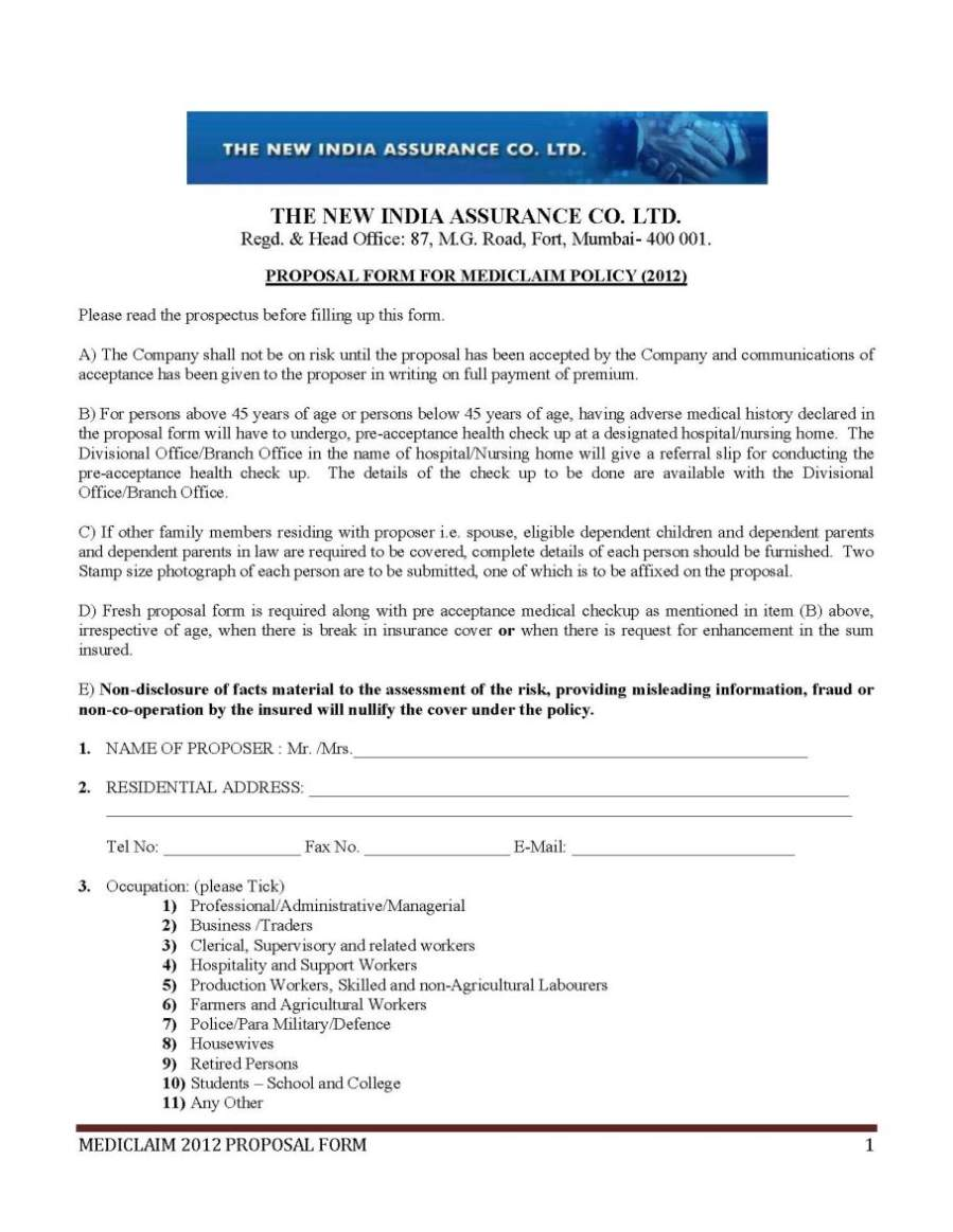 The New India Assurance Company Limited Policy 2018 2019 Student Forum