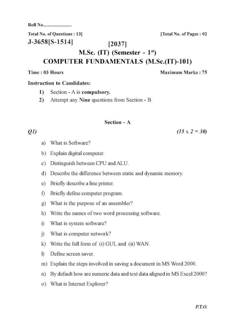 msc it ptu question papers student forum n by default how are numeric data and text data aligned in ms excel 2000 o what is internet explorer ptu m sc it question paper