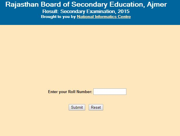 Board Of Secondary Education Rajasthan Web Portal 2014 2015 Student