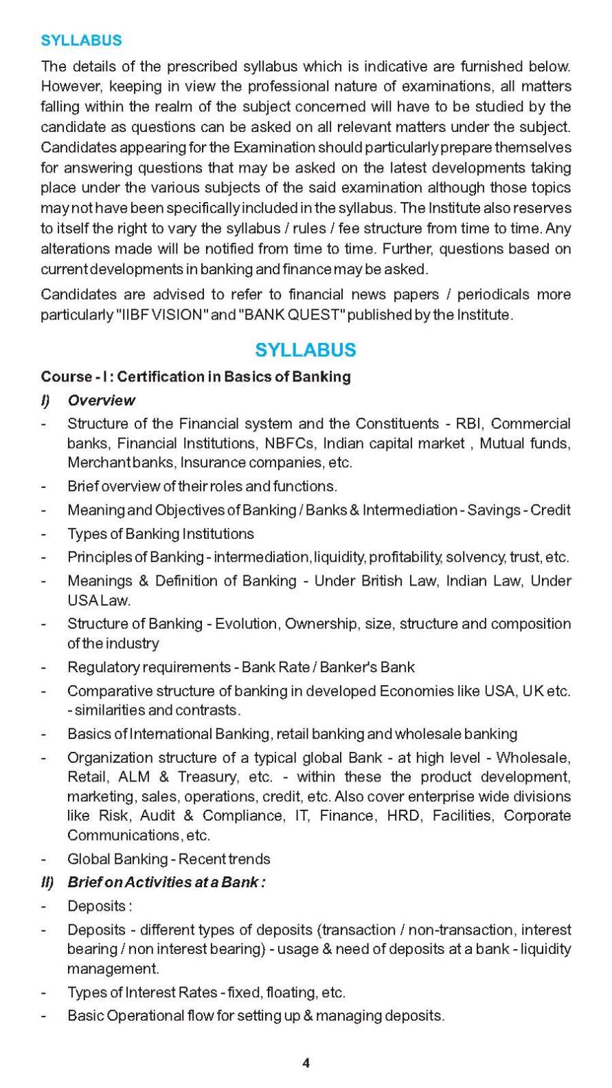 Basics Of Banking Certification From Iibf 2017 2018 Student Forum