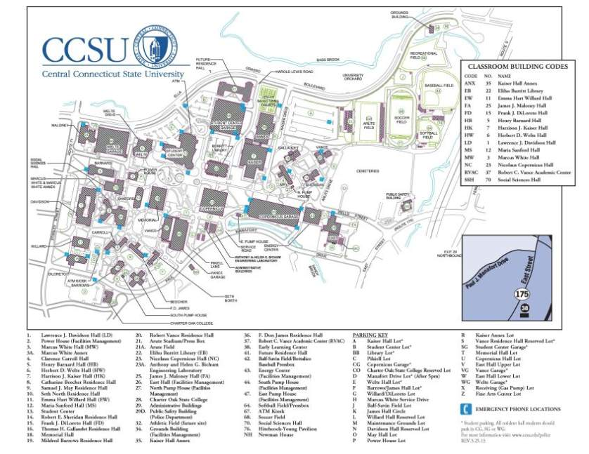 Connecticut College Campus Map | afputra.com
