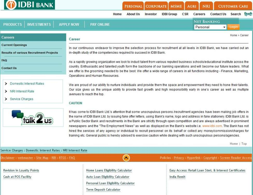 IDBI Bank Recruitment Result for 500 Executive - 2015 2016 Student ...