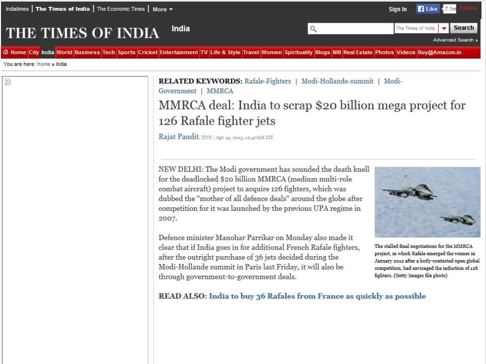 Indian Air Force Jet Fighter Deal 2015 2016 Student Forum