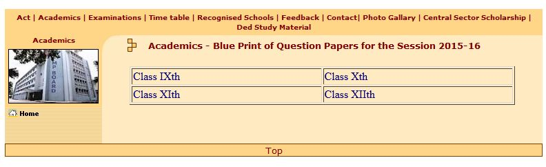 Mpbse 10th blueprint 2018 2019 student forum after that click on blue print of question papers for the session option again a new page will open which look like this image malvernweather Images