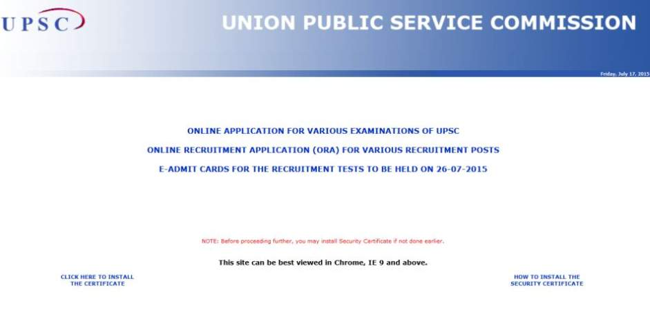 Firstly you will have to go official website of Union Public Service ...