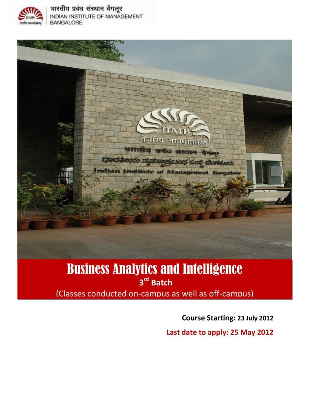Iim Bangalore Business Ytics Course Review