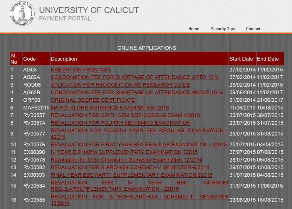 University of calicut medium of instruction 2018 2019 student forum after that on this page find application form for medium of instruction certificate this option and click on this option again a new page will open altavistaventures Images