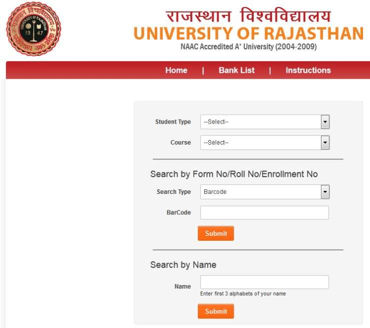 University Of Rajasthan Call Letter