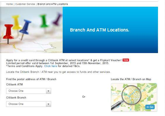 ... you the process so that you can easily search any branch of CITI bank