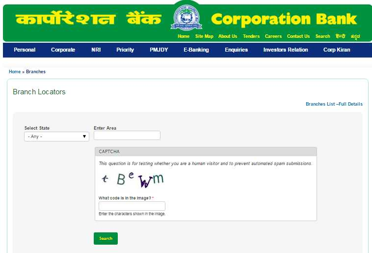 Corporation bank forex branch mumbai