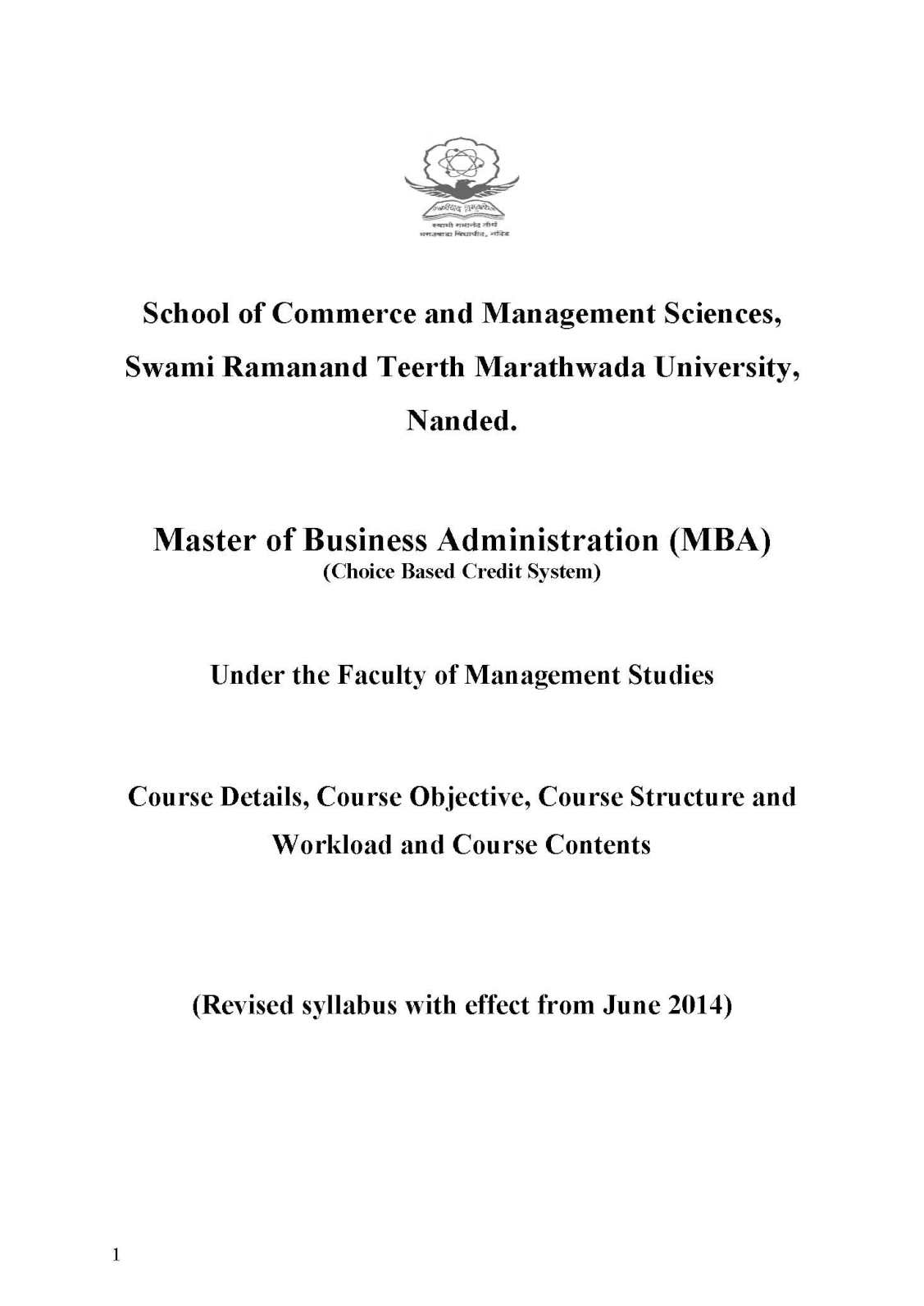 SRTMUN MBA Question Papers - 2018 2019 Student Forum