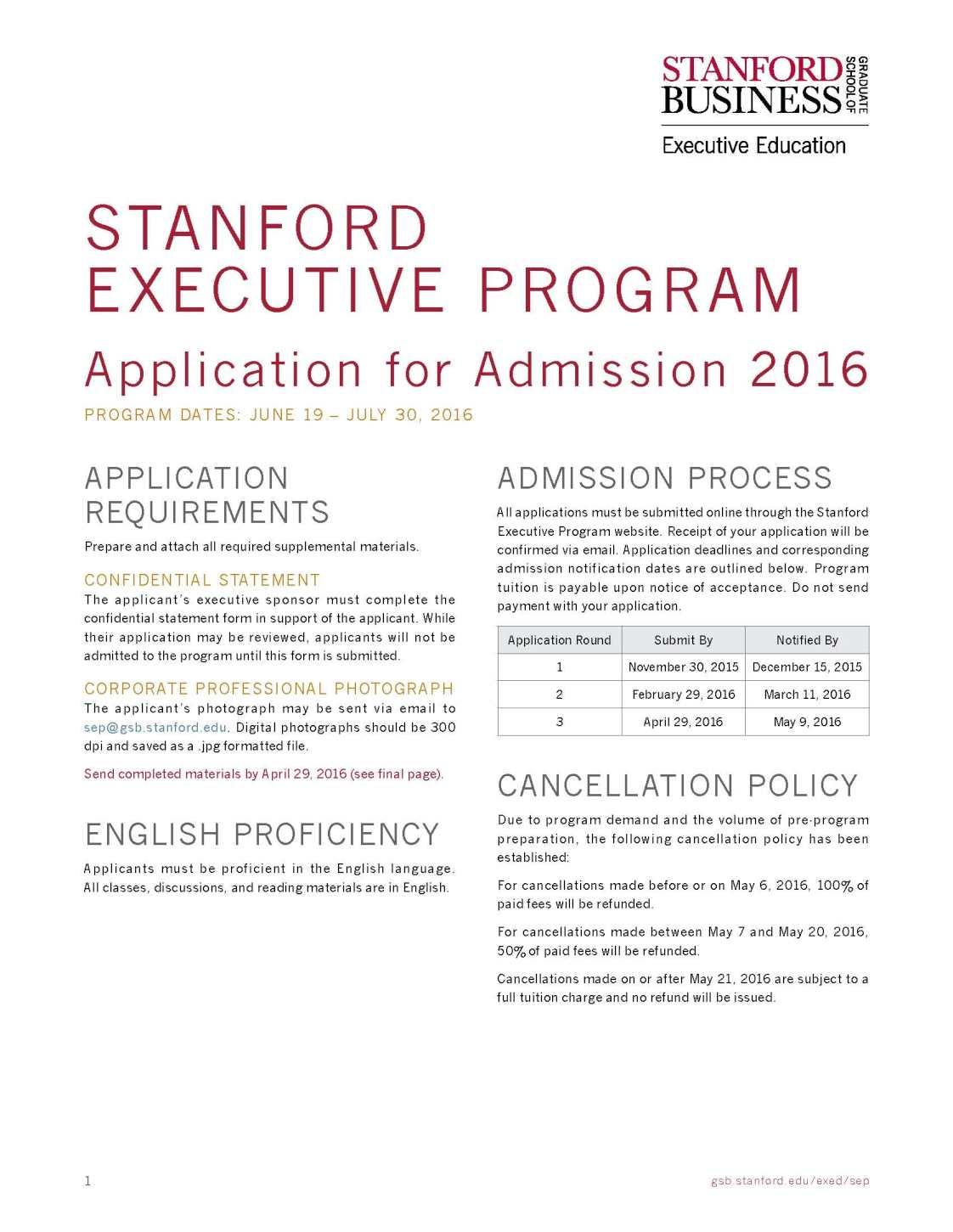 Stanford University Executive MBA - 2017 2018 Student Forum