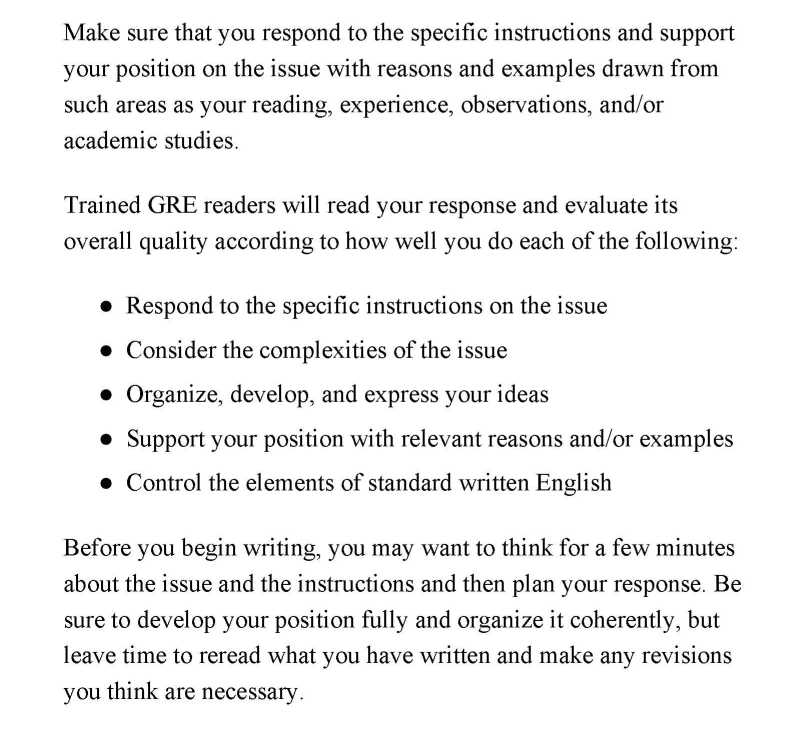 How to write gre analytical writing essays