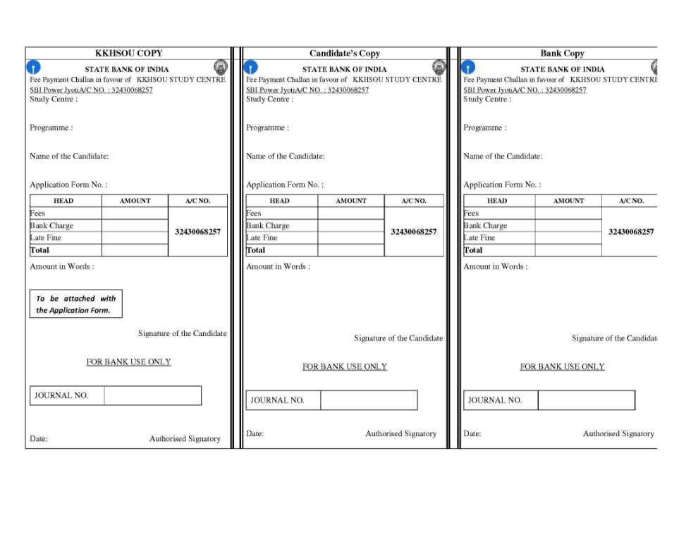 State bank of india challan form download