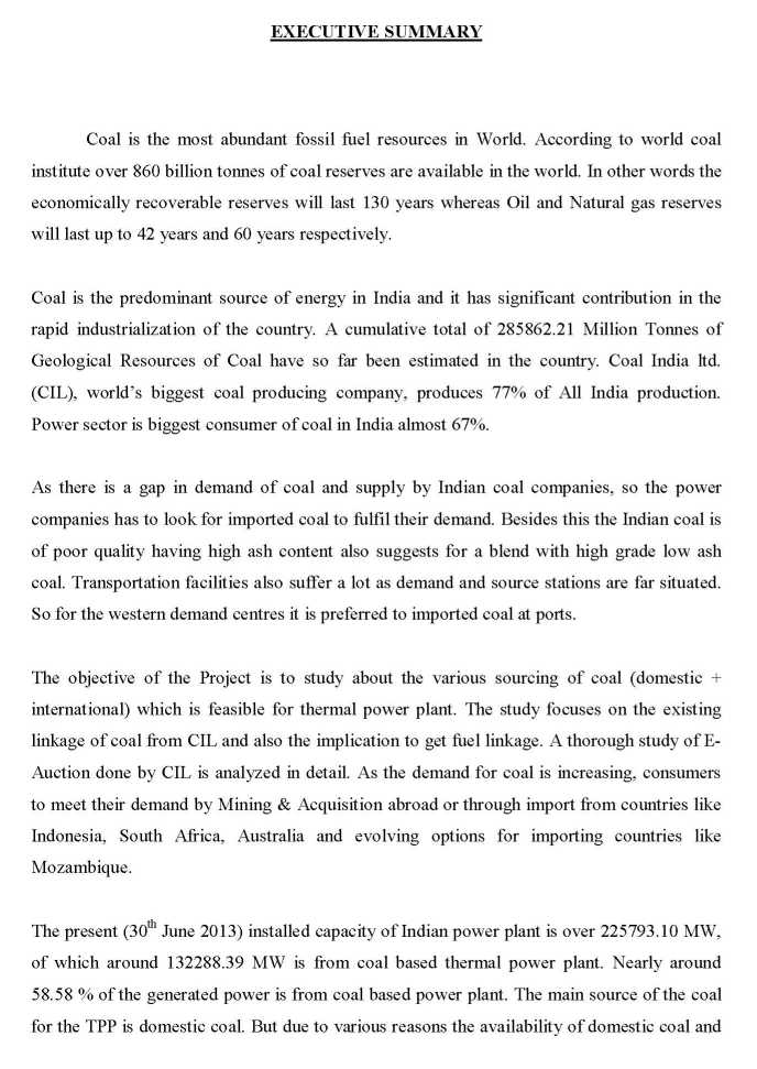 Summer Training Report On Coal India Limited 2017 2018 Student Forum – Training Report
