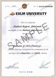 Eiilm university degree sample 2018 2019 student forum diploma in library science btech biotechnology btech civil engineering yadclub Images