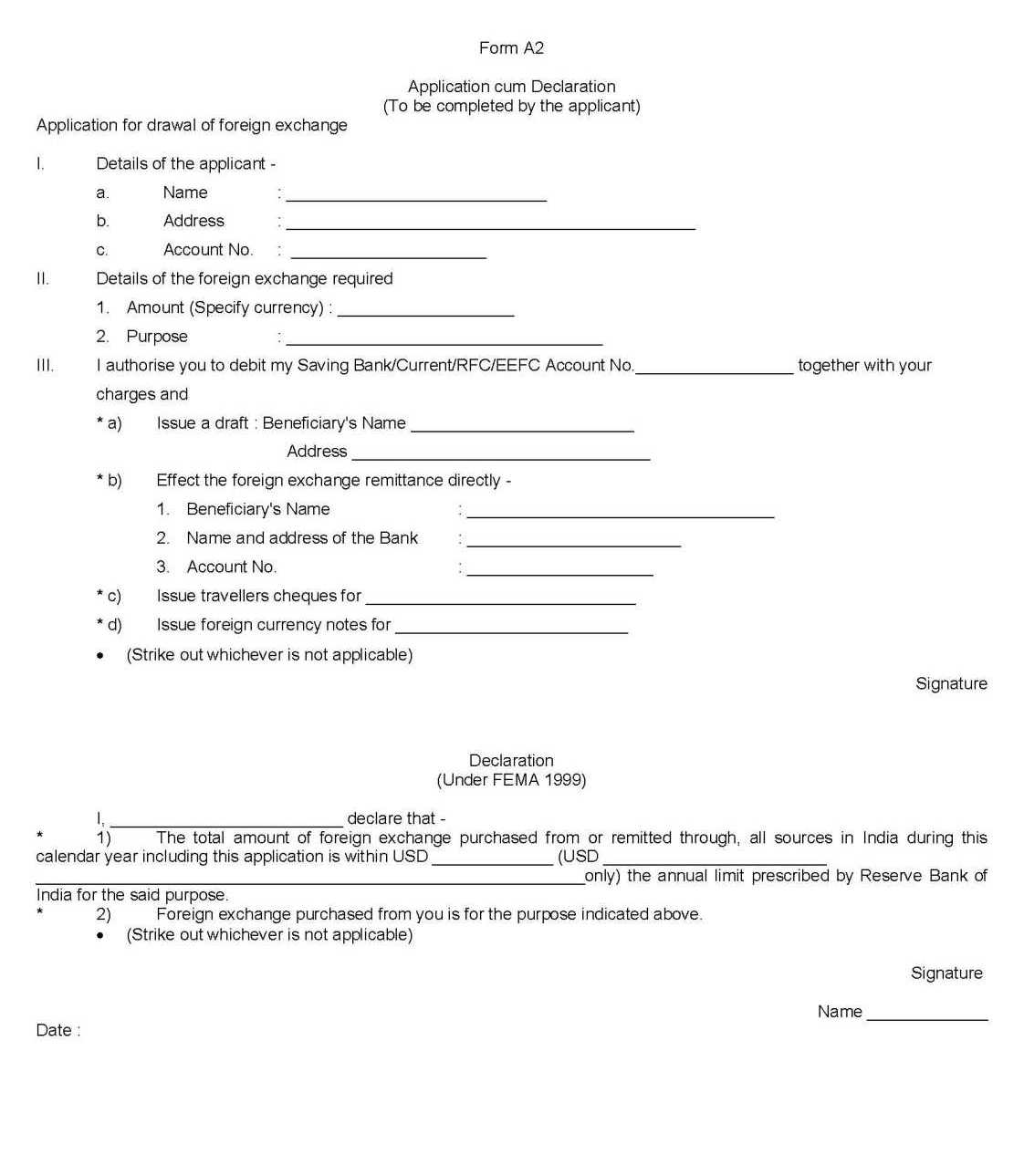 Bank rtgs pdf central form of india