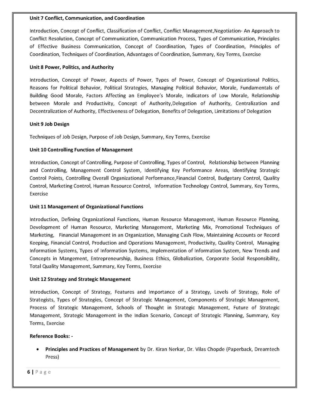 Operations Management ameb syllabus free download