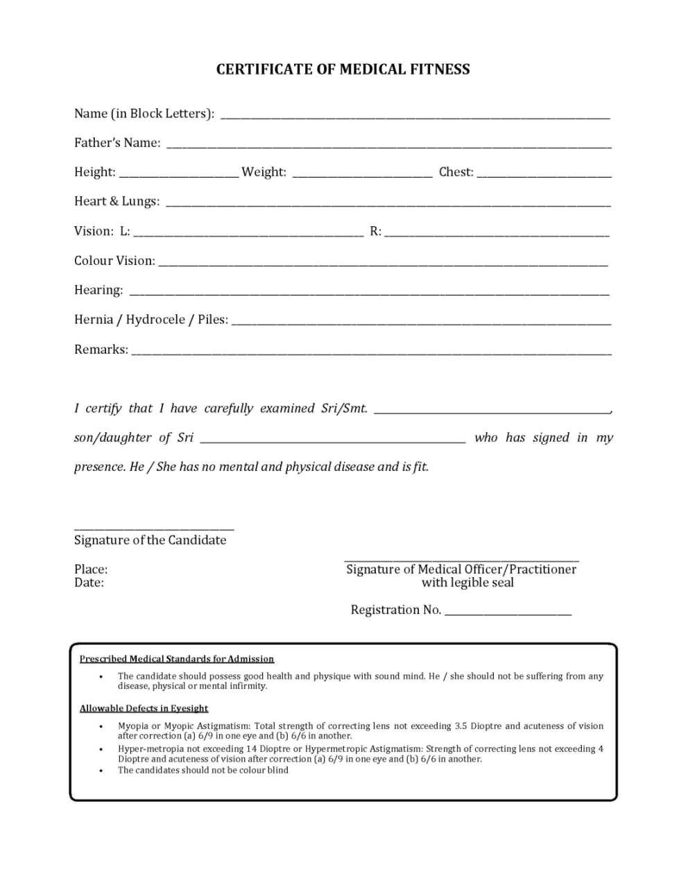 Medical fitness certificate for JEXPO 2017 2018 Student Forum – Download Medical Certificate