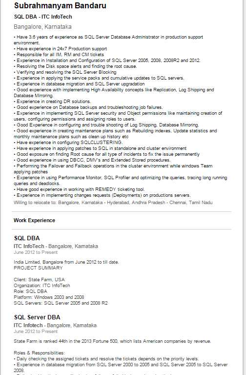 sql server dba resume shantkumar. Resume Example. Resume CV Cover Letter