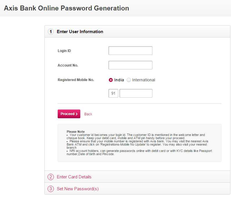 Axis bank forex card internet login