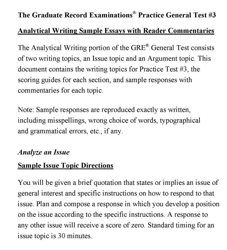 Sample Of A Standard Essay