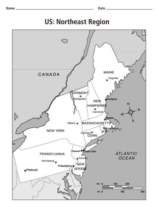 Map Of Northeast Usa Map Of Ne Usa And Canada Maps Usa Map Images - Blank map of northeast us