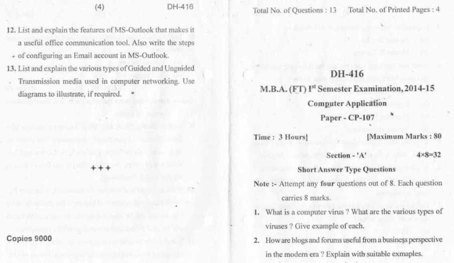 Question Paper of Barkatullah University 2017 2018 Student Forum – Types of Office Communication