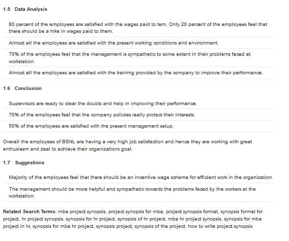 MBA Synopsis Sample - 2017 2018 Student Forum