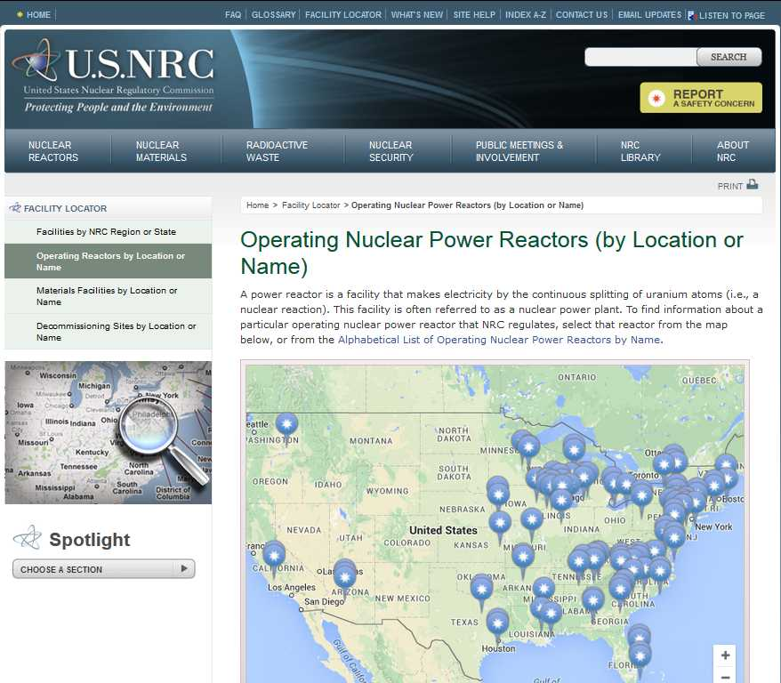 Map Of Nuclear Power Plants In The United States - List of nuclear power plants in us map